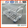 2 Tier Galvanized Tublar Hand Trolley for Storage