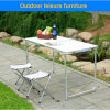 Small Silver Outdoor Leisure Furniture Table