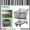 Black Coating Supermarket Shopping Trolley Shopping Cart Large Volume