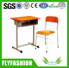 Single Wooden School Furniture Student Desk and Chair Set (SF-09S)