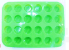 Flower Shaped Silica Gel Cake Mould Plastic Material