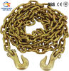 "Galvanized 5/16"" Towing Chain with Grab Hook"