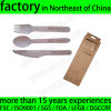 Restaurant Disposable Wood Knife Fork Spoon Set Logo Engraved Handle