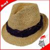 Raffia Straw Fedora Hat, Woman Hat