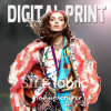 Digital Print on Silk, Cotton, Linen, Spandex Fabric (X1051)