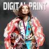 Digital Print on Silk, Cotton, Linen, Spandex Fabric (X1051)