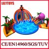 Pirate Theme Ground Gaint Inflatable Water Park for Sale