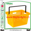 Vrign PP Plastic Hand Basket with Handle Lock