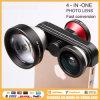Fmst 4-in-One Fish Eye /0.4X Super Wide Angle /Macro / Phone Lens (4 in 1 lens)