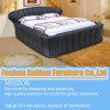Bed Furniture Black Leather Bedroom Set
