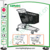 180L Plastic Shopping Trolley Cart for Big Supermarket