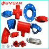 FM UL Aprovals Ductile Iron Grooved Mechanical Cross for Fire Fighting Pipeline
