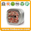 Square Seamless Candy Tin Box with or Without Clear Window