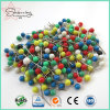 Free Shipping 4*17mm Assorted Colors ABS Plastic Ball Head Steel Map Push Pin for Binding