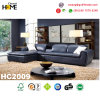 Purplar Modern Furniture Blue Leather Corner Sofa Set (HC2009)