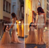 Champagne Parent-Child Pageant Dresses Mother and Baby Girls Family Dresses Sexy Pearls Tulle Formal Evening Dresses A14904