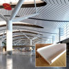 Departure Hall Decoration Perforated Metal Ceiling Strip Tiles