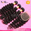 Indian Curly Hair with Closure 6A Unprocessed Indian Virgin Hair with Closure Human Hair Bundles Deep Wave with Lace Closure