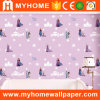 Princess Cartoon Design Kids Wallpaper for Girls′ Room