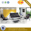 PU Leather Office Sofa with Stainless Steel Legs (HX-CS048)