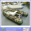 2.7m Hot Sale Ce Inflatable Camouflage Fishing Boat with Canopy