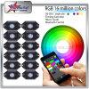 RGB LED Rock Lights 4 Pods Kit 8 Pods Kit off Road Rock Lights Bluetooth Control for Color Changing 6 Pods Kit 12 Pods Kit Mini LED Rock Lights