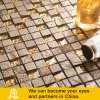 Golden and Brown Dubai Style Mosaic for Wall Decoration