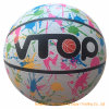 Complex Printing High Quality Deep Line Rubber Official Size Basketball