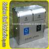 Bespoke Outdoor Recycle Stainless Steel Trash Can for Utility Usage