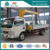 Dongfeng Cummins Telescope Crane Truck with 2 Ton Straight Arm Crane
