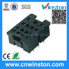 Mini Plastic DIN-Rail Mouting Electrical Relay Socket with CE
