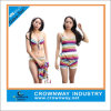 Girls Print Stripes Four-Piece Bikin for Wholesale