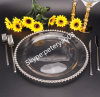 Home and Wedding Deco Glass Charge Plate
