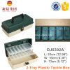 Green Color 2 Tray Sorted Plastic Box