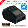 "Hidden Car DVR 1.5"" Car Black Box Built in Full HD1080p Car Digital Video Recorder Wth G-Sensor, WDR, 5.0m Car Camera DVR-1510"