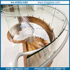 Non- Reflective Tempered Curved Bent Glass for Stairs and Building