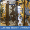 Rose Golden Stainless Steel Sector Folding Room Divider for Hall