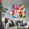 Fashion Girl Canvas Print with Frame