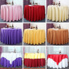 Luxury Wedding Event Tablecloth Made of Cotton Linen Fabric (DPF107114)