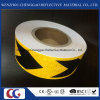 Black Yellow Arrow Reflective Material Waning Tape for Trucks