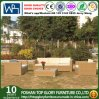 PE Rattan Balcony Furniture Yellow Wicker Weaving Sofa (TG-JW32)