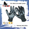 13G 3/4 Black Nitrile Smooth Coated Glove