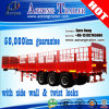 Tri-Axle Animal Transport Stake Truck Semi-Trailer for Sale