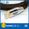 HDMI 19 Pin Plug-Plug Cable for HDTV with Gold Plug