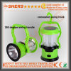 8 LED Solar Camping Lantern with LED Torch, USB (SH-1972)