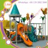 Electrostatic Spray Outdoor Kids Playground Equipment Plastic Slide