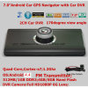 "7.0"" Capacitive Touch Car Dash Video Camcorder with Android OS; GPS Navigation; 2.0mega Full HD1080p Camera; 2CH Digital Video Recorder; Parking Camera"