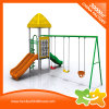 Mini Outdoor Playground Double Slides and Swings Equipment for Children