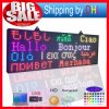 P10 LED Advertising Screen 27X65 Inch Programmable Scrolling Color SMD Message Board