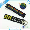 Custom 100% Polyester Remove Before Flight Embroidery Keychain